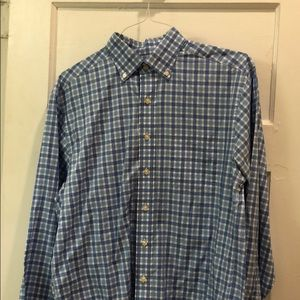 Vineyard Vines Blue Checkered Button Down Shirt